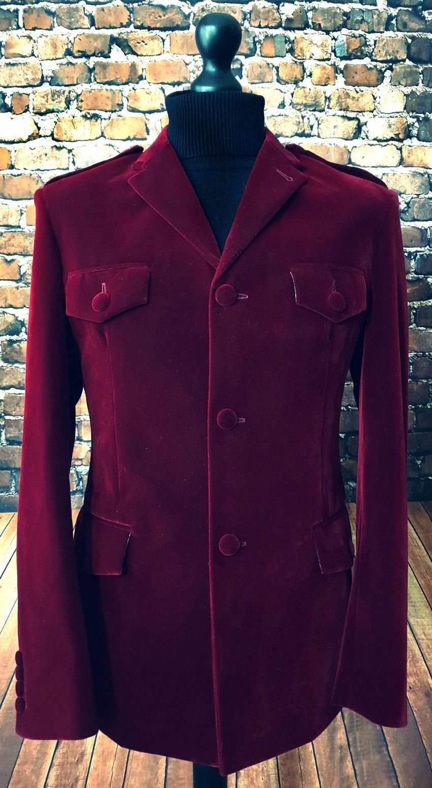 """The Jones"" Cherry Velvet Jacket"